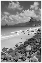 Nhat Beach and Ba Island. Con Dao Islands, Vietnam ( black and white)