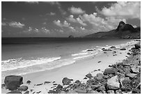 Nhat Beach. Con Dao Islands, Vietnam ( black and white)