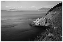 Cau Islet, Bay Canh Island, and Tau Be Cape. Con Dao Islands, Vietnam ( black and white)