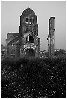 Bombed church ruins, Dong Hoi. Vietnam ( black and white)