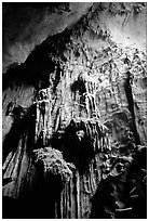 Cave formations, Tam Thanh Cave. Lang Son, Northest Vietnam ( black and white)