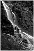 Silver Falls (Thac Bac) near Sapa. Sapa, Vietnam (black and white)