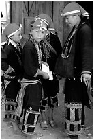 Red Dzao boys. Sapa, Vietnam (black and white)