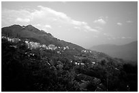 The hillside site of Sapa. Sapa, Vietnam (black and white)