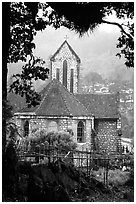 French church, Sapa. Sapa, Vietnam ( black and white)