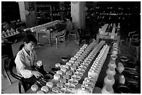 Ceramics factory, Bat Trang. Bat Trang, Vietnam (black and white)