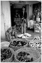 Chicks for sale. Cholon, Ho Chi Minh City, Vietnam (black and white)