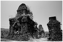 Ruined Champa towers. My Son, Vietnam ( black and white)