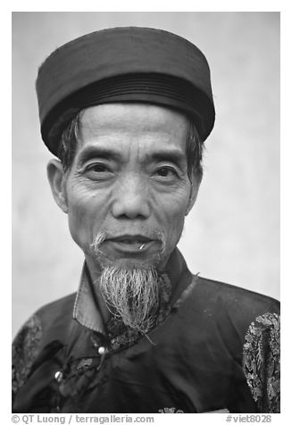 Temple guardian, Perfume Pagoda. Vietnam (black and white)