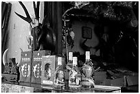 Traditional medicine is still favored by the population. A sample of traditional medicine items. Cholon, Ho Chi Minh City, Vietnam ( black and white)