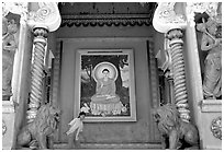 Tay Anh pagoda. Chau Doc, Vietnam (black and white)