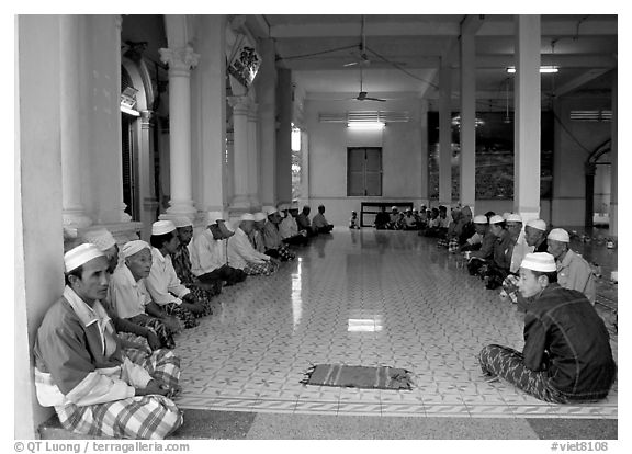 Ceremony in mosque in Cham minority village. Chau Doc, Vietnam
