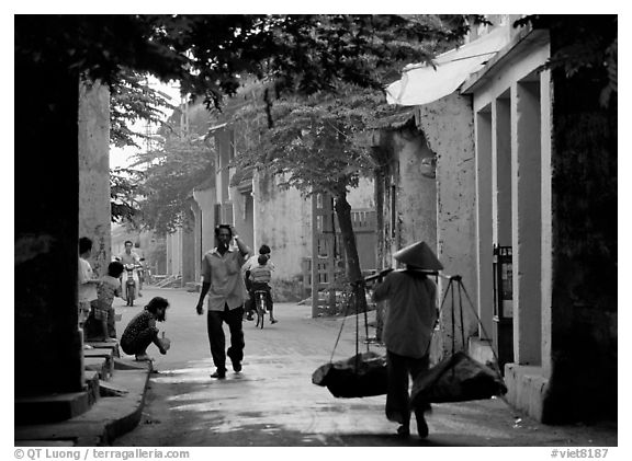 Old street,  Hoi An. Hoi An, Vietnam (black and white)