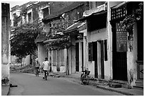 Old houses, Hoi An. Hoi An, Vietnam (black and white)