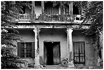Old house, Hoi An. Hoi An, Vietnam ( black and white)