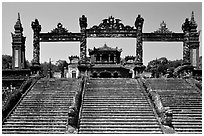 Khai Dinh mausoleum. Hue, Vietnam (black and white)