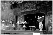 Quan Than pagoda. Hanoi, Vietnam (black and white)