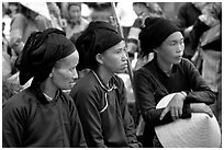 Ethnic minority women. Sapa, Vietnam ( black and white)