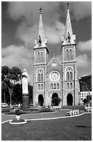 Notre-Dame Cathedral. Ho Chi Minh City, Vietnam ( black and white)