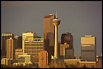 Skyline and tower, late afternoon. Calgary, Alberta, Canada