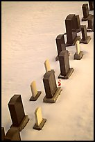 Tombstones in snow. Calgary, Alberta, Canada (color)