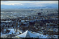 View from Calgary Tower in winter. Calgary, Alberta, Canada