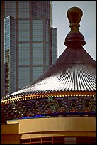 Dome of the Chinese cultural center. Calgary, Alberta, Canada (color)