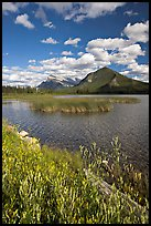 Mt Rundle and second Vermillion lake, afternoon. Banff National Park, Canadian Rockies, Alberta, Canada