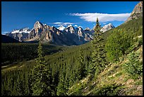 Valley of Ten Peaks, early morning. Banff National Park, Canadian Rockies, Alberta, Canada