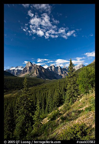 Valley of Ten Peaks, early morning. Banff National Park, Canadian Rockies, Alberta, Canada (color)