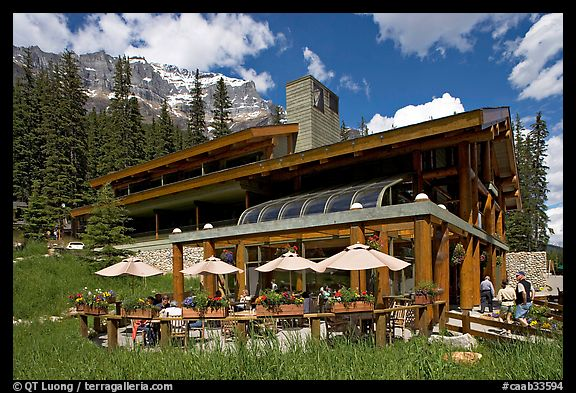 Moraine Lake lodge. Banff National Park, Canadian Rockies, Alberta, Canada