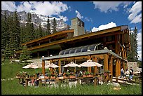 Moraine Lake lodge. Banff National Park, Canadian Rockies, Alberta, Canada (color)