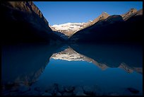 Lake Louise and Victoria Peak, early morning. Banff National Park, Canadian Rockies, Alberta, Canada