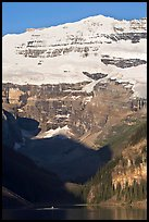 Victoria peak and glacier above Lake Louise, early morning. Banff National Park, Canadian Rockies, Alberta, Canada