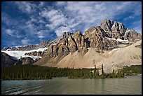 Crowfoot Mountain and Crowfoot Glacier above Bow Lake. Banff National Park, Canadian Rockies, Alberta, Canada