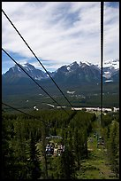 Tram at Lake Louise ski resort and Ten Peaks lodge. Banff National Park, Canadian Rockies, Alberta, Canada