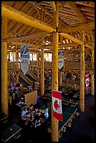 Dinning hall in Ten Peaks lodge. Banff National Park, Canadian Rockies, Alberta, Canada