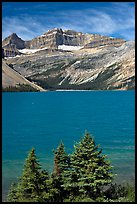 Bow Lake, mid-day. Banff National Park, Canadian Rockies, Alberta, Canada
