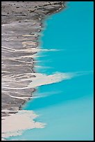 Glacial sediments transported into Peyto Lake by streams. Banff National Park, Canadian Rockies, Alberta, Canada