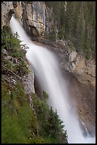 Panther Falls seen from the hanging ledge. Banff National Park, Canadian Rockies, Alberta, Canada (color)