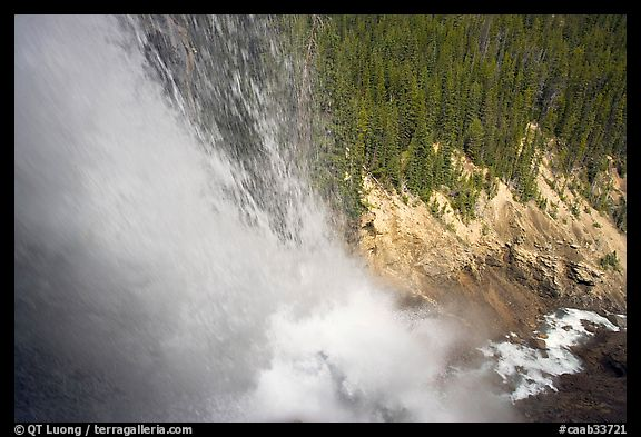 Water tumbling down Panther Falls. Banff National Park, Canadian Rockies, Alberta, Canada