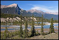 Saskatchevan River. Banff National Park, Canadian Rockies, Alberta, Canada (color)