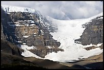 Snow Dome Glacier, Snow Dome, and Mt Kitchener. Jasper National Park, Canadian Rockies, Alberta, Canada (color)