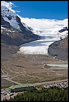 Icefields Center and Athabasca Glacier. Jasper National Park, Canadian Rockies, Alberta, Canada ( color)
