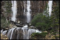 Upper tier of Tangle Falls. Jasper National Park, Canadian Rockies, Alberta, Canada ( color)