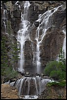 Tangle Falls. Jasper National Park, Canadian Rockies, Alberta, Canada (color)
