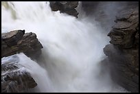Rushing water, Athabasca Falls. Jasper National Park, Canadian Rockies, Alberta, Canada ( color)