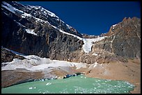 Mt Edith Cavell, Angel Glacier, and turquoise glacial lake. Jasper National Park, Canadian Rockies, Alberta, Canada ( color)