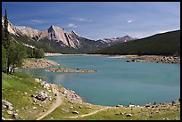 Medicine Lake, afternoon. Jasper National Park, Canadian Rockies, Alberta, Canada ( color)