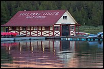 Maligne Lake Boathouse. Jasper National Park, Canadian Rockies, Alberta, Canada
